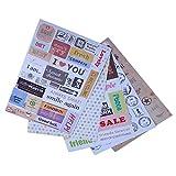 GAOHOU®Hi-elec 6 ermutigen Album Sammelalbum Kalender Tagebuch Planer Karte Sticker Aufkleber Dekor