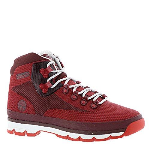 Timberlanda107d - euro hiker medio, jacquard da uomo, rosso (sandali adventure seeker, punta chiusa - t - bambini), 41 eu