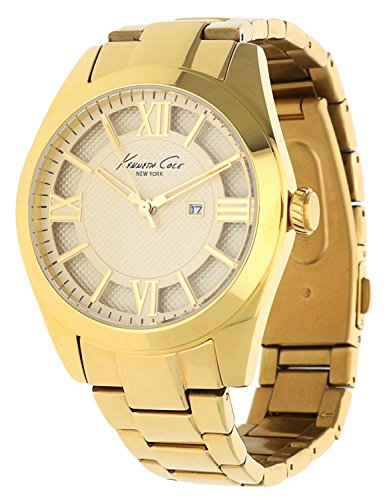 Kenneth Cole Women's Gold Tone Steel Bracelet & Case Quartz Gold-Tone Dial Analog Watch 10023857