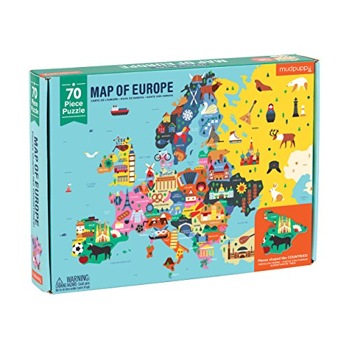 Map of Europe: 70 Piece Puzzle por Mudpuppy