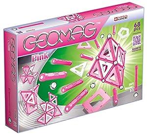 Geomag- Pink Construcciones magnéticas y Juegos educativos,, 68 Piezas (342)