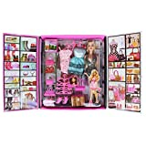 #6: ZZ ZONEX Party Girl Doll and Her Fun Fashion Princess Personal Style Wardrobe Set, Pink