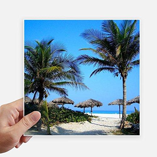 DIYthinker Ozean-Baum-Blauer Himmel Bild-Quadrat-Aufkleber 20Cm Wand Koffer Laptop Motobike Aufkleber 4Pcs 20cm x 20cm Mehrfarbig