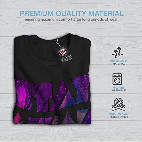 Géométrique Unique Wellcoda Femme S-2XL Sweat-shirt | Wellcoda Noir
