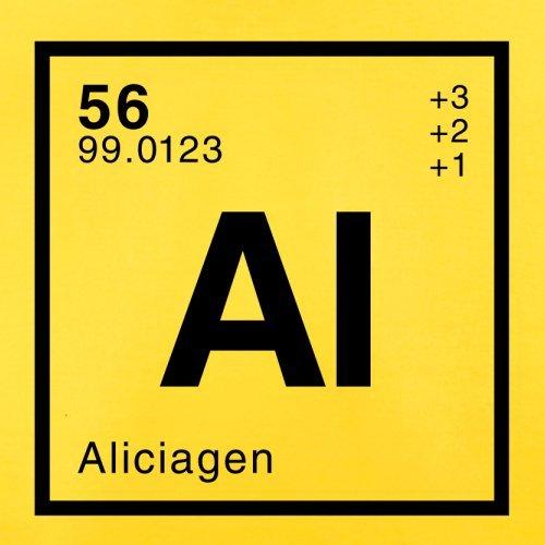 Alicia Periodensystem - Herren T-Shirt - 13 Farben Gelb
