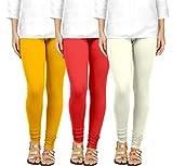 #9: Ancientstar Women's Cotton Leggings - Pack of 3