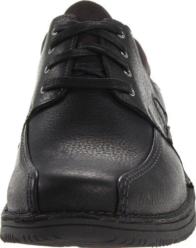 Clarks Uomo Senner Blvd Oxford Black Tumbled Leather