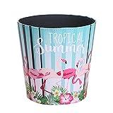 YAHAMA Papierkorb Klein Papierkorb Flamingo Papierkorb für Badezimmer/Büro/küche/Schlafzimmer Papierkorb ohne Deckel