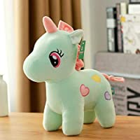 Pearl World Extra Soft Stuffed Unicorn Horse Toy for Kids - 25 cm | Stretchable Soft Feather Cotton Fabric (Light Sky…