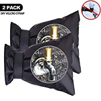 Acehome 2Pcs Outside Tap Covers, Larger Thicken Insulated Waterproof Tap Protector From Frost for Winter Wall Water Spigot Cover- Frost Protector Thermal Tap Jacket