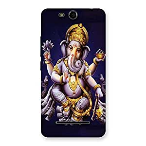 Impressive Dancing Ganesha Back Case Cover for Micromax Canvas Juice 3 Q392