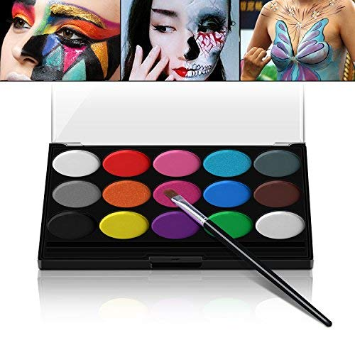 Xpassion schminkf arben ultimatives party set sicheres nichtto xisches face-painting neoprene fronte corpo pittura set di 1 pennelli 15 colori per bambini parties body painting halloween make up