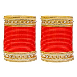 MUCH MORE Unique Shahi Design Chaming Bridal Chura Kada Bangle For Women & Girls Jewelry
