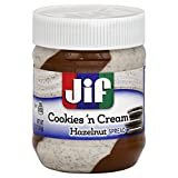 JIF Cookies 'n Cream Hazelnut Brotaufstrich, Haselnuss & Keks 368g USA