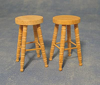 Bare Essentials Bar Stool 2pk 1/12 Scale - inexpensive UK light store.