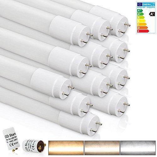 [PRO] LED Leuchtstoffröhre | T8 Tube mit G13 Scokel | 18 Watt | Naturweiß 4000K | Neonröhren inkl. LED Starter | für Deckenleuchte Rasterleuchte [Energieklasse A+]