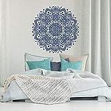 Ponana Mandala Wandtattoo Schlafzimmer Vinyl Aufkleber AbziehbilderWohnzimmer Kunst Wohnwand Yoga Tapete 57X57 Cm