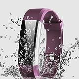 ThreeCat Sport Smart Watch Outdoor Wasserdicht Touchscreen Fitness Tracker mit Pulsmesser Smart Armband für Sony, Samsung, HTC, Huawei und andere Die meisten Android Smartphone (Purple)
