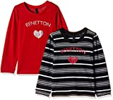 #5: United Colors of Benetton Baby Girls' T-Shirt (16A3094CSAKII9031Y_Red and Black_1Y)