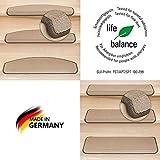 Kettelservice-Metzker® Stufenmatten Vorwerk Uni Einzeln und Sparset's Hellbraun 15 Stück Halbrund