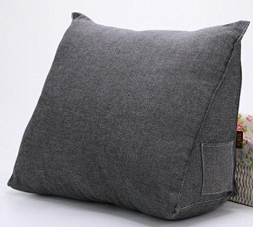 Vercart Sofa Rückenlehne Kopfkissen,Keilkissen, Rückenkissen, Fernsehkissen, Ergokissen weich und bequem aus softer Microfaser,55*45*25cm, waschbar Mischfarbe