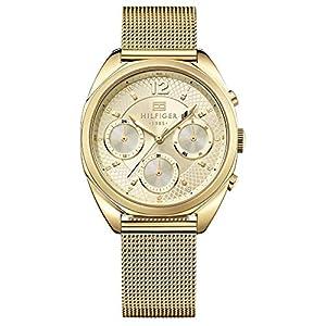 Reloj para mujer Tommy Hilfiger 1781488, mecanismo de cuarzo, diseño con varias esferas, correa chapada en oro.
