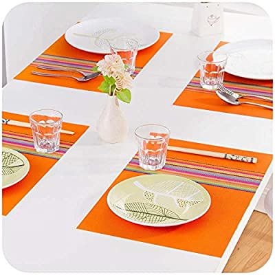 Hrph Fashion PVC Dining Table Placemat Europe Style Kitchen Tool Tableware Pad Coaster Coffee Tea Place Mat - inexpensive UK light shop.