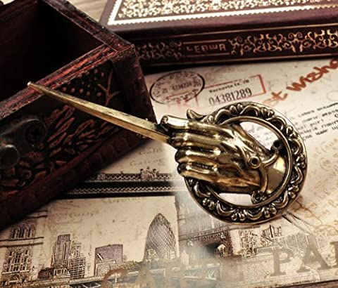 SASAMALL Pop Song of Ice and Fire Antique Bronze Hand of the King Metal Pin: Game of Thrones by SASAMALL