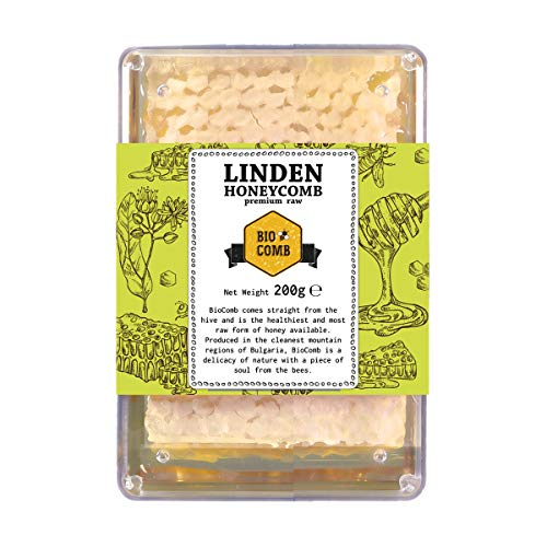 Linden-Honigwaben I Imker-Bienenhonig direkt aus dem Bienenstock I Linden Honeycomb 200g (Bio-bienenhonig)