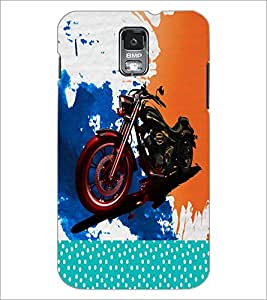 PrintDhaba Bike D-2823 Back Case Cover for SAMSUNG GALAXY S5 (Multi-Coloured)