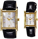 Titan 900242562YL01 Quartz Silver Square Couple Watch (900242562YL01)