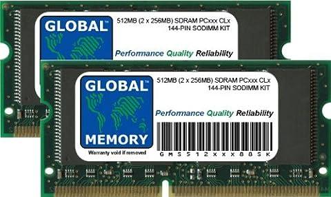 512Mo (2 x 256Mo) PC100/133 SDRAM SODIMM MÉMOIRE RAM KIT POUR POWERBOOK G3 & TITANIUM POWERBOOK G4