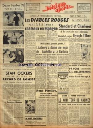 BELGIQUE SPORTS [No 307] du 24/12/1948 - 3 QUESTIO...