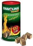 Accendi Fuoco Diavolina Ecologica Caminetti Grill Stufe 100 Cubi