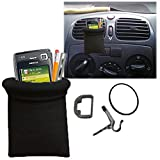 #4: Callmate Black Car Pouch Mobile Phone Holder Mount for Car AC vents