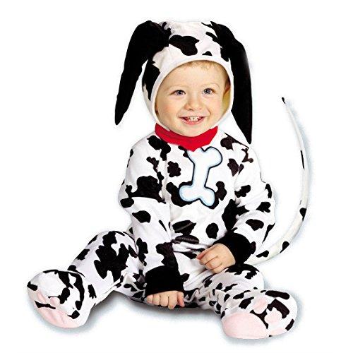 NET TOYS Baby Dalmatiner Kostüm Hundekostüm schwarz-weiß 90 cm Dalmatinerkostüm Hunde Kostüm Tierkostüm Babykostüm