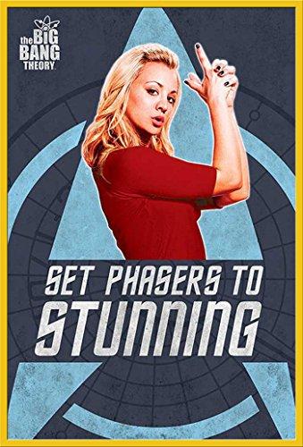 The Big Bang Theory - Penny Phasers - Film Maxi-Poster, Druck, Poster Kino Movie TV-Serie - Grösse 61x91,5 cm + Wechselrahmen der Marke Shinsuke® Maxi aus Kunststoff Gelb - mit Acrylglas-Scheibe. (Phaser Gelb)