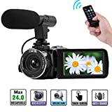 Camcorder Full HD 1080P Digital Camera WIFI IR Night Vision Function Vlogging Camera Video Camera External Microphone