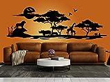 Schönes Wandtattoo Afrika Savanne 2