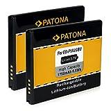 PATONA 2X Akku Wie EB-F1A2GBU für Samsung i9050 Galaxy S2 i9108 i9100 i9103 Galaxy R i9105 Galaxy S2 Plus i9105p Galaxy S2 Plus i9188 i9100g Galaxy S1