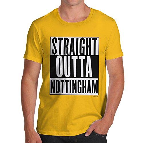 Herren Straight Outta Nottingham T-Shirt Gelb