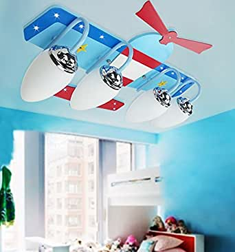kinderzimmer deckenleuchte flugzeug lampe junge schlafzimmer ideen beleuchtung. Black Bedroom Furniture Sets. Home Design Ideas