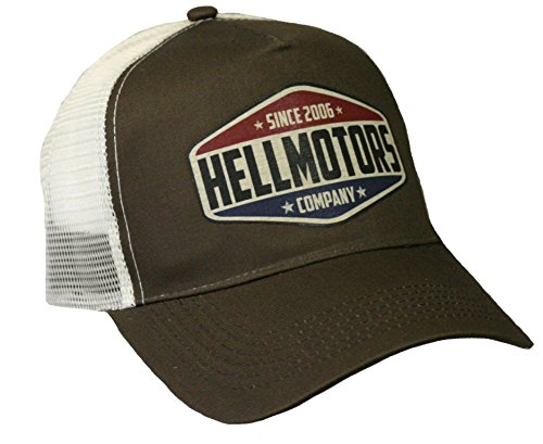 Hellmotors since 2006 Trucker Cap Oldschool Vintage Headwear V8 Hot Rod Biker Kappe