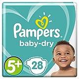Pampers Baby-Dry Windeln, Größe 5+ (12-17 kg), 1er Pack (1 x 28 Stück)