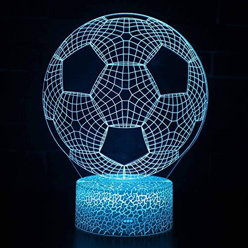 Yangll Cartoon Patrick Star Acrylic 7 Colors Desk Night Lamp 3D Lamp Novelty Crack LED Night Light Football LED Vision Stereo Lamp