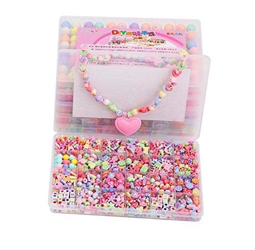 Alien Storehouse DIY Perlen Set Halskette Armband Schmuck machen Handwerk Kits für Kinder - ca. 780 Perlen - 09