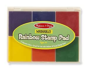 Melissa and Doug Rainbow 6 Color Stamp Pad