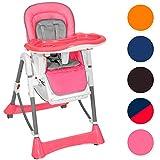 TecTake Kinderhochstuhl Babyhochstuhl höhenverstellbar -diverse Farben- (Pink)