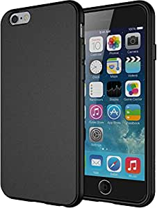 """iPhone 6 Case, Diztronic Full Matte Soft Touch Flexible TPU Case for Apple iPhone 6 & 6S (4.7"""") - Black"""