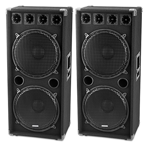 McGrey DJ-2522 pareja de altavoces para DJ o sala de fiesta 2...